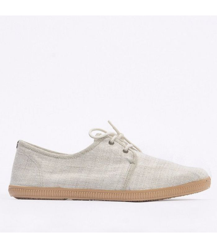 The Rice Co - Zomerse veterschoen canvas beige