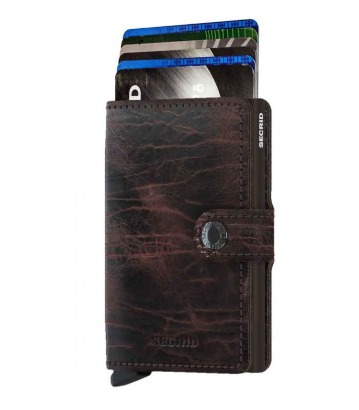SECRID - Secrid mini wallet leer Dutch Martin cacao-bruin