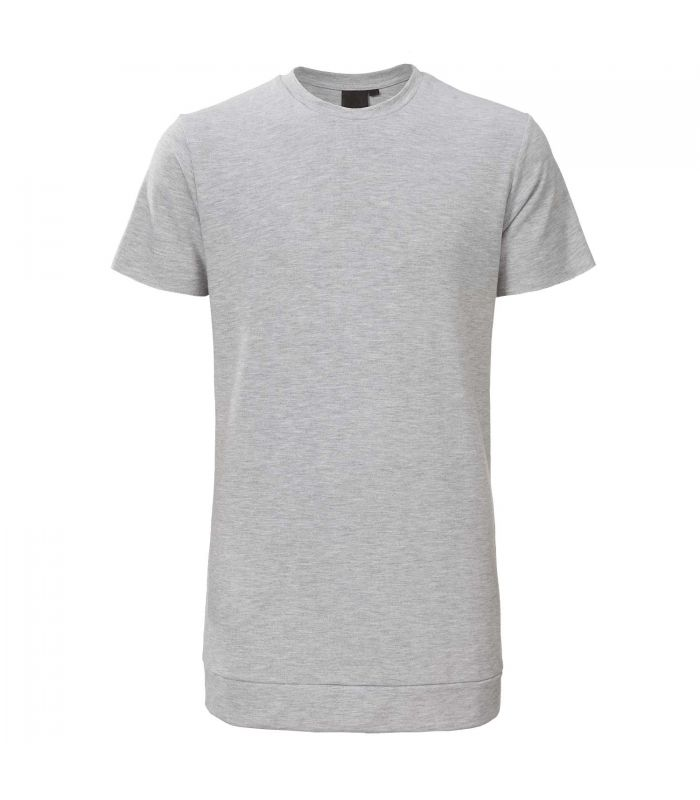 ZUMO - Sweat T-shirt long line Carpentino lichtgrijs