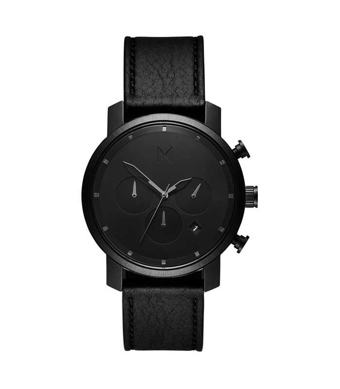 MVMT - Horloge Chrono 40mm black leather