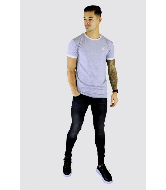 SIKSILK Katoenen t-shirt basic mergel grijs