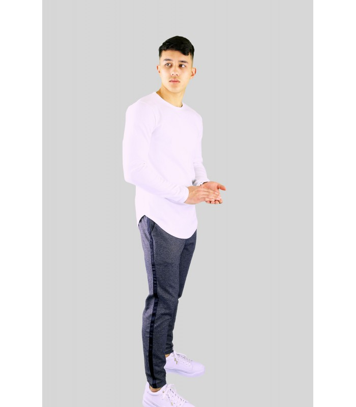 Uniplay - Sweater longline slim fit creme wit