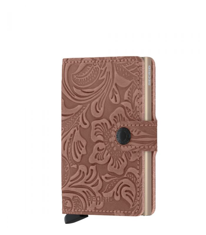 Secrid mini wallet leer ornament rose