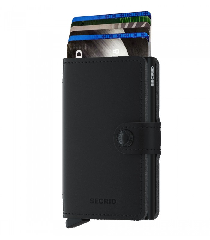 Secrid mini wallet Vegan soft touch zwart
