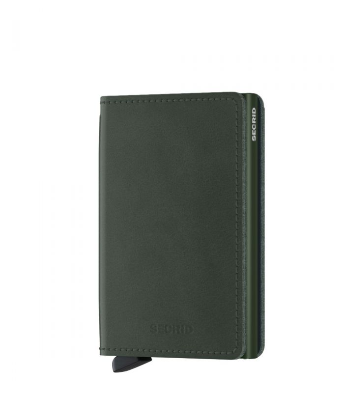Secrid slim wallet leer original groen