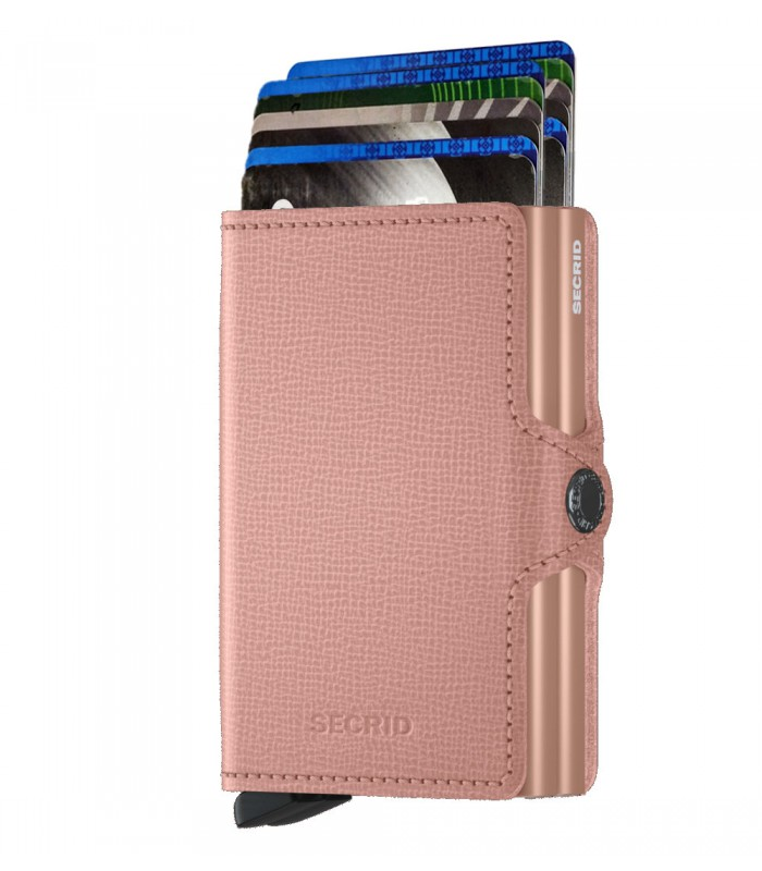 Secrid twin wallet leer crisple rose floral
