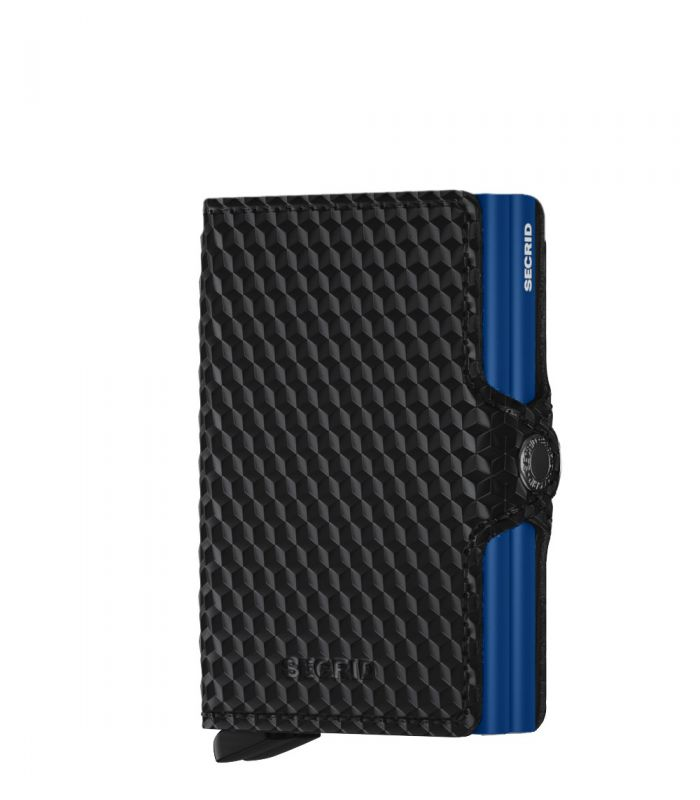 Secrid twin wallet leer cubic black-blue