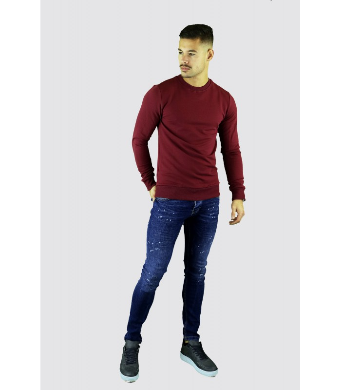 Y TWO Jeans Basic sweater groene wassing