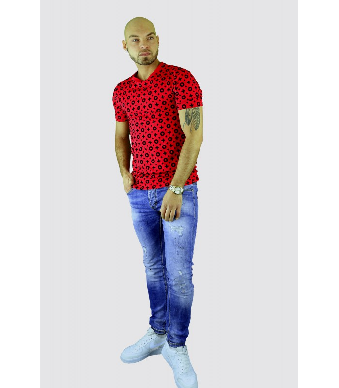 Uniplay Slim fit t-shirt Louis rood