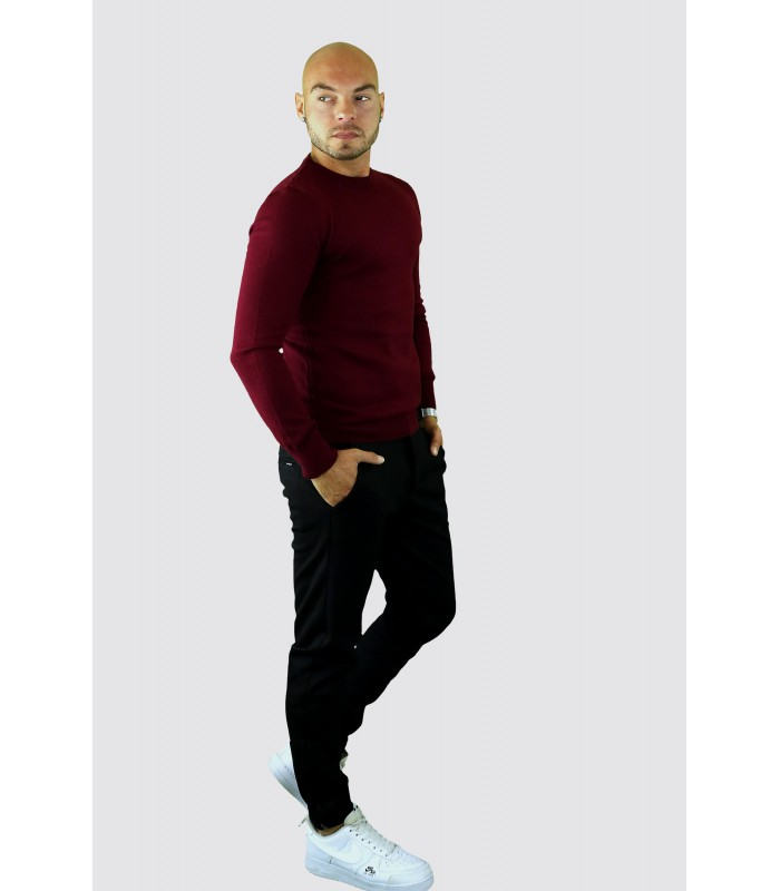 AARHON dunne tricot pullover bordeaux