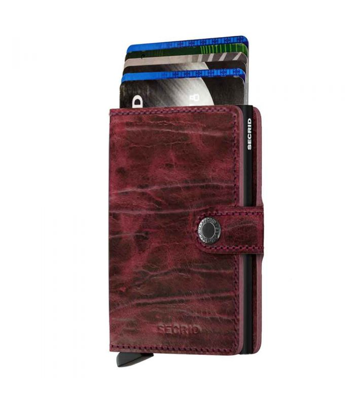 SECRID - Secrid mini wallet leer Dutch Martin bordeaux