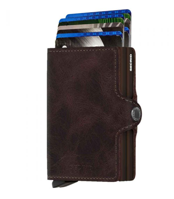 SECRID - Secrid twin wallet leer vintage chocolate